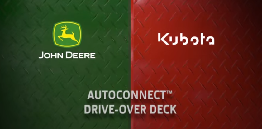 John Deere 1R Series vs. Kubota BX Series – AutoConnect Mower Deck