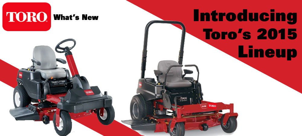 New Toro Lawn Mowers for 2015