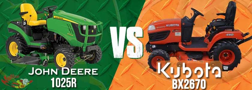 John Deere 1025R vs. Kubota BX2670