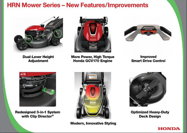 Honds 2021 HRN Mower Series New Features and Improvements